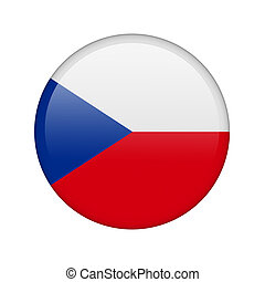 The Czech flag in the form of a glossy icon.