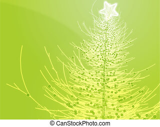 Sparkly christmas tree illustration - Sparkly christmas...