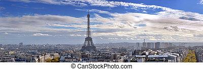 Panorama of Paris.