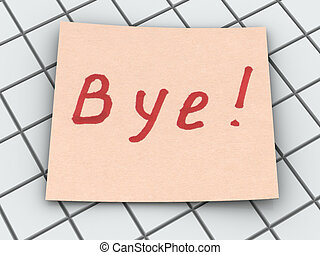 Bye text