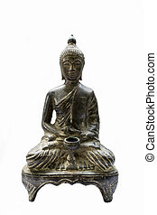 Old Budha statue picture.