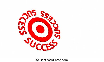 Success Target and dart with circular text. Part of a...