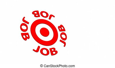 Job Target - Job Target and dart with circular text Part of...