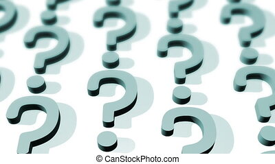 Question Mark Depth of Field Looping Animated Background