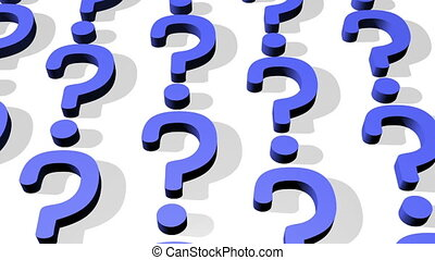 Dark Blue Question Mark Looping Animated Background