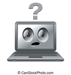 image of laptop with face
