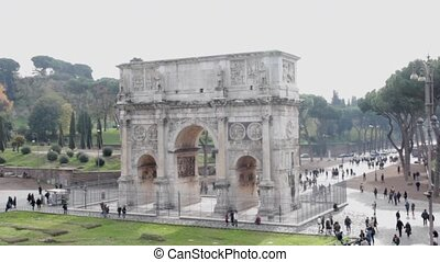 Roman ancient arch  - The Arch of Constantine, Rome