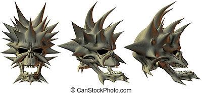 3D Fantasy Skulls - 3D Render of Fantasy Skulls
