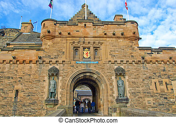 Edinburgh castle in Scotland, Great Britain, United Kingdom