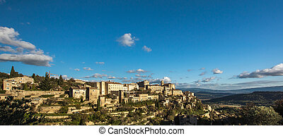 Village Gordes on the top of hill