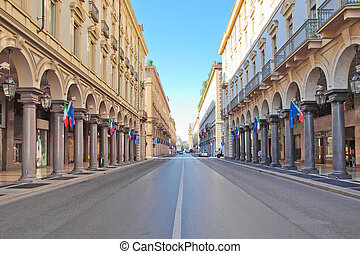 Via Roma, Turin - Via Roma central high street in Turin...
