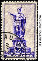 USA - CIRCA 1937 Kamehameha - USA - CIRCA 1937: A Stamp...