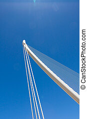 bridge with cables and column - Suspension bridge with...