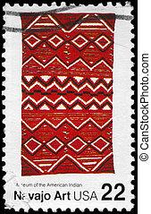 USA - CIRCA 1986 Navajo Art