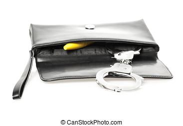Clutch bag with explizit content