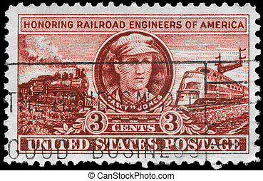 USA - CIRCA 1950 Railroad Engineers - USA - CIRCA 1950: A...