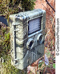 Trail Camera - Camouflaged trail, or wildlife, camera...