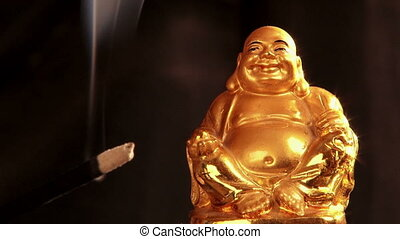Gold Buddha, close up