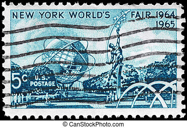 USA - CIRCA 1964 World Fair - USA - CIRCA 1964: A Stamp...