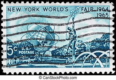 USA - CIRCA 1964 World Fair - USA - CIRCA 1964: A Stamp...