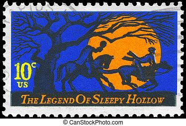 USA - CIRCA 1974 Sleepy Hollow - USA - CIRCA 1974: A Stamp...