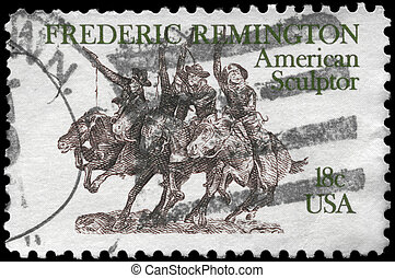 USA - CIRCA 1981 Sculpture - USA - CIRCA 1981: A Stamp...