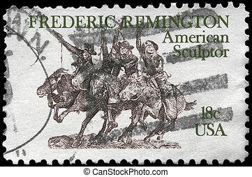 USA - CIRCA 1981 Sculpture - USA - CIRCA 1981: A Stamp...