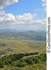 Spring view of Sierra Subbetica - The Sierra Subbetica...