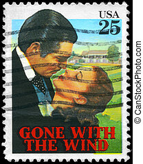 USA - CIRCA 1990 Gone with the Wind - USA - CIRCA 1990: A...