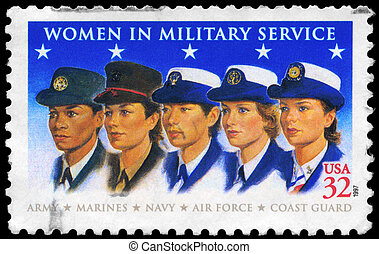 USA - CIRCA 1997 Military Women - USA - CIRCA 1997: A Stamp...