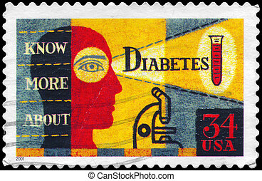 USA - CIRCA 2001 Diabetes - USA - CIRCA 2001: A Stamp...