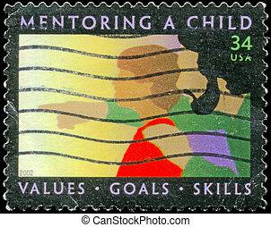 USA - CIRCA 2002 Mentoring - USA - CIRCA 2002: A Stamp...