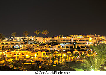 Lanzarote night - Lanzarote at night photographed from the...