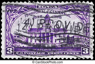 USA - CIRCA 1938 Old Capitol - USA - CIRCA 1938: A Stamp...