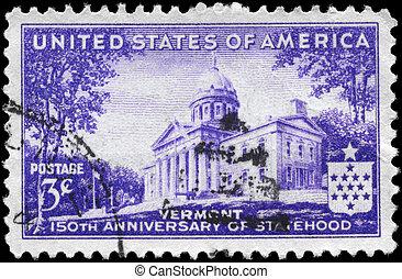 USA - CIRCA 1941 Vermont Statehood - USA - CIRCA 1941: A...