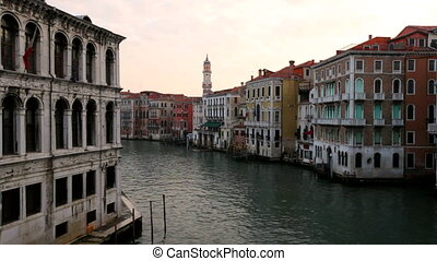 Venice, Italy - The Grand Canal in Venice in the early...