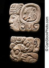 Ancient Mayan hieroglyphs