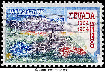 USA - CIRCA 1964 Nevada Statehood - USA - CIRCA 1964: A...