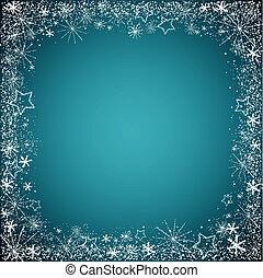 christmas snowflakes border