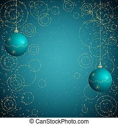blue and golden christmas backgroun