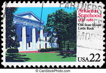 USA - CIRCA 1986 Arkansas Statehood - USA - CIRCA 1986: A...