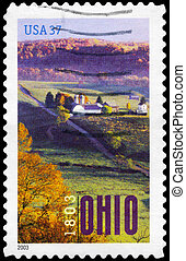 USA - CIRCA 2003 Ohio Statehood - USA - CIRCA 2003: A Stamp...