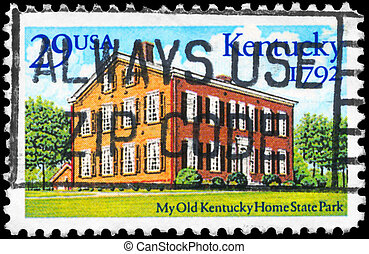 USA - CIRCA 1992 Kentucky Statehood - USA - CIRCA 1992: A...