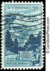 USA - CIRCA 1952 Rushmore - USA - CIRCA 1952: A Stamp...