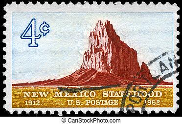 USA - CIRCA 1962 Shiprock - USA - CIRCA 1962: A Stamp...