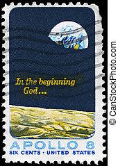 USA - CIRCA 1969 Apollo 8 - USA - CIRCA 1969: A Stamp...