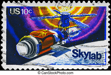 USA - CIRCA 1974 Skylab - USA - CIRCA 1974: A Stamp printed...