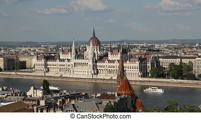 Budapest, Hungary - Panorama of Budapest, Hungary with the...