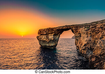 Azure Window, Malta - The Azure Window in Malta at Sunset