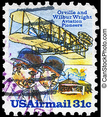 USA - CIRCA 1978 Wright Brothers - USA - CIRCA 1978: A Stamp...